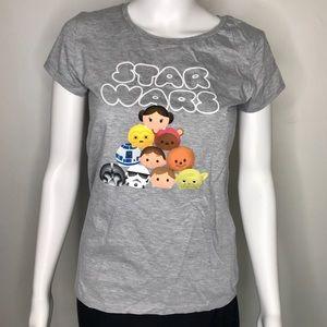 👻 Juniors Gray Star Wars Cartoon Shirt XL